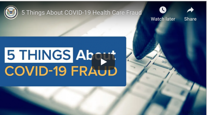 Video, 5 Things About COVID-19 Health Care Fraud