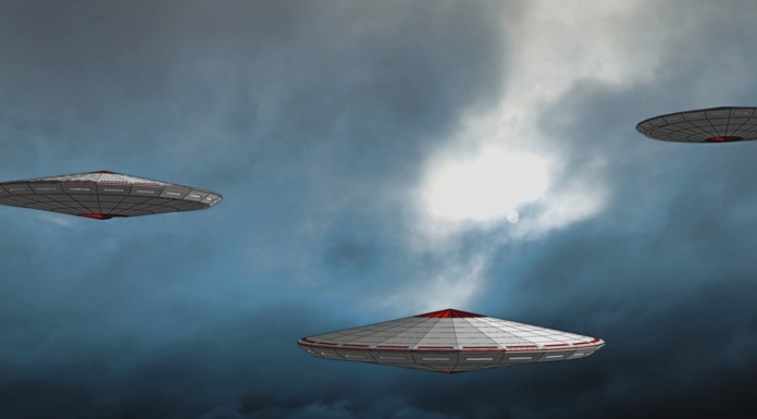 Artist conception of unidentified flying objects