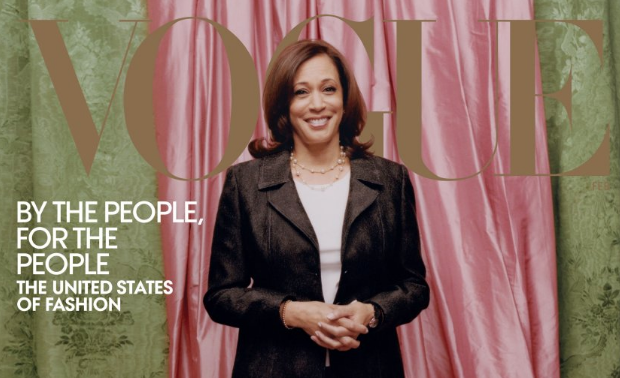 Kamala Harris on the February cover of Vogue