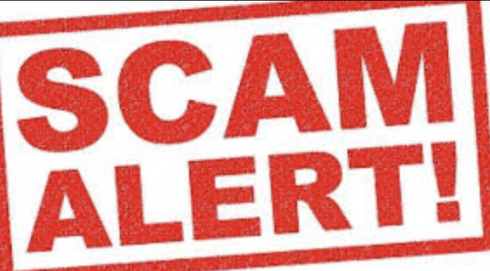 Scam alert notice