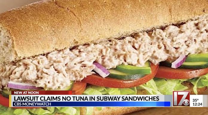 Subway tuna(?) sandwich