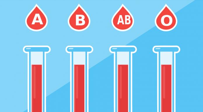Illustration of blood types