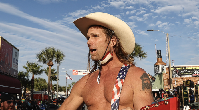 Robert Burck, better known as the Naked Cowboy