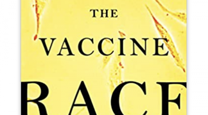 Book cover, The Vaccine Race: Science, Politics and the Human Costs of Defeating Disease