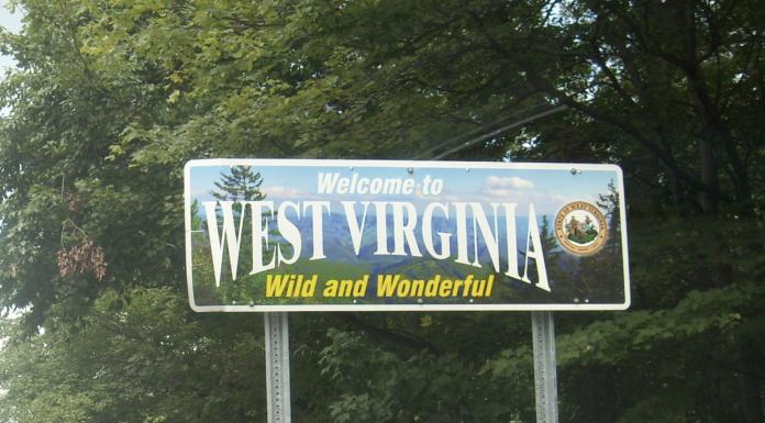 Welcome to West Virginia highway sign