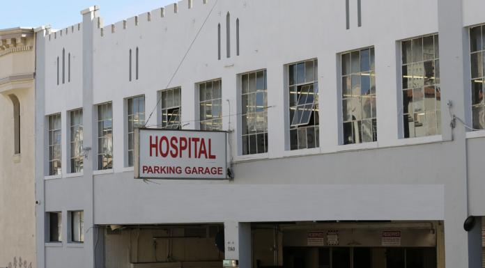 Hospital parking garage